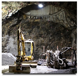 Excavating equipment at the site of what will be the world�s first repository for spent nuclear reactor fuel, deep in granite bedrock in Finland. Credit Miikka Pirinen for The New York Times