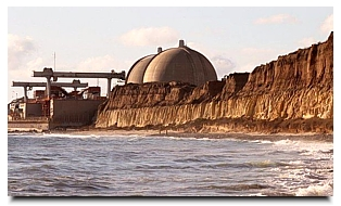 The exterior view of the San Onofre power plant. Charlie Neuman