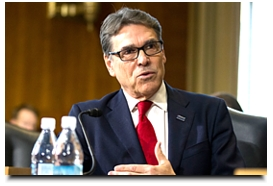 Erik Verduzco/Las Vegas Review-Journal Energy Secretary-designate, former Texas Gov. Rick Perry, testifies at his confirmation hearing before the Senate Energy and Natural Resources Committee on Capitol Hill in Washington D.C.
