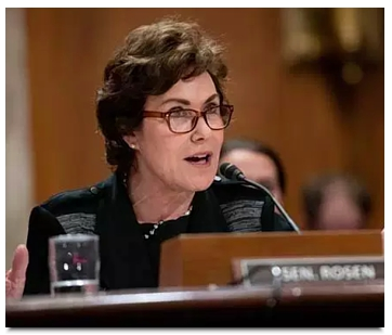 Sen. Jacky Rosen testifying May 1 against restarting the Yucca Mountain siting process. (Rosen Senate office photo).