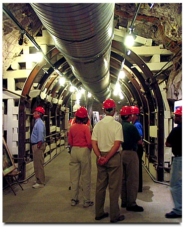Nuclear Regulatory Commission staff tour Yucca Mountain. Courtesy Nuclear Regulatory Commission.