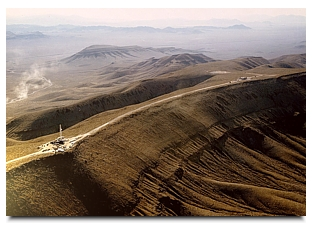 The crest of Yucca Mountain - by DOE