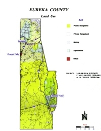 Eureka County landuse map