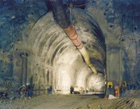Yucca Mountain - first tunnel construction